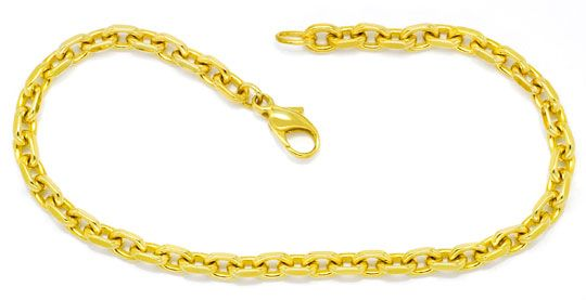 Foto 1, Set Kette und Armband Anker-Muster massiv 14K Gelb-Gold, K2402