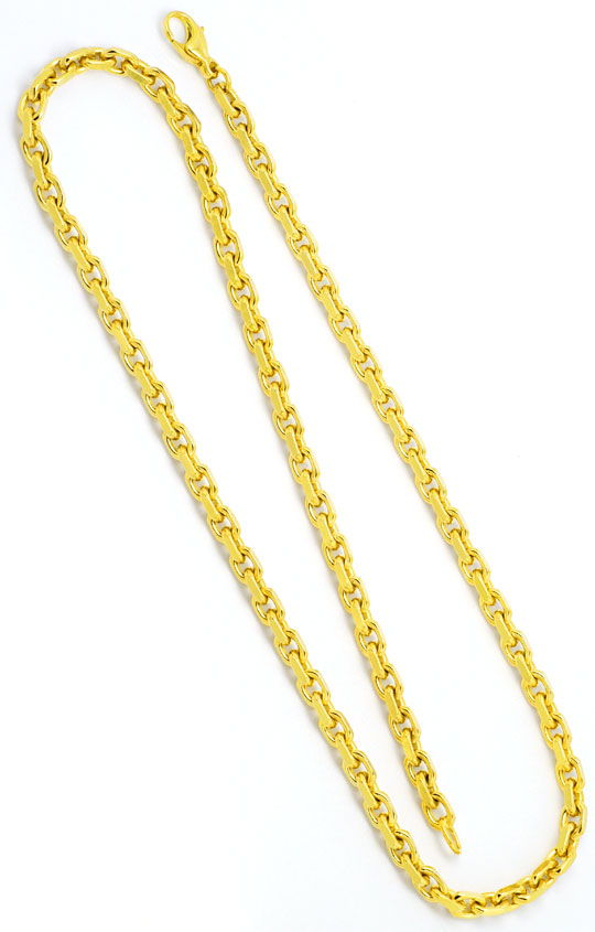 Foto 2, Set Kette und Armband Anker-Muster massiv 14K Gelb-Gold, K2402
