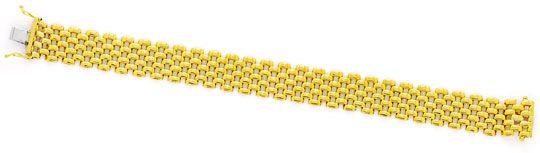 Foto 2, Set aus Kette Armband Ohrhängern Backstein 18K Gelbgold, K2404
