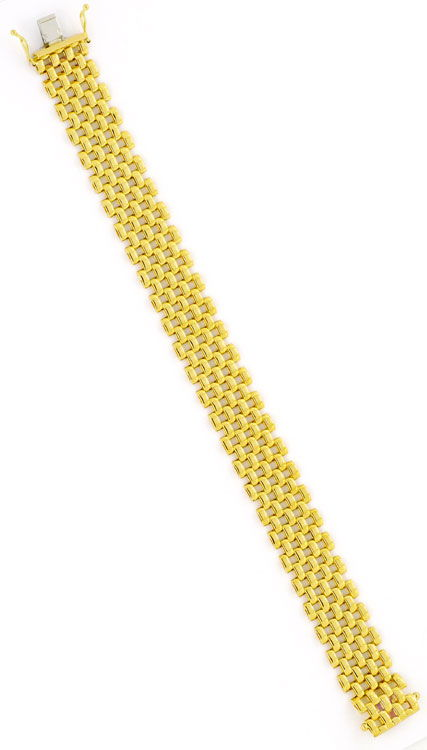Foto 5, Set aus Kette Armband Ohrhängern Backstein 18K Gelbgold, K2404