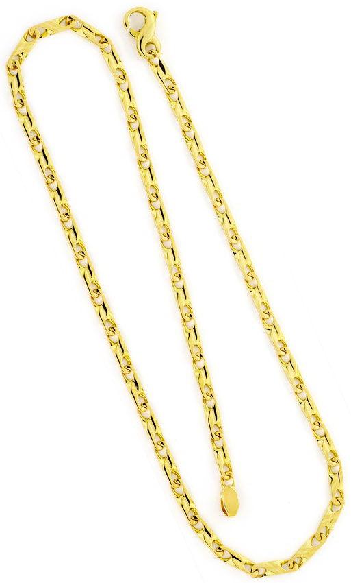 Foto 3, Designer Schmuckset Halskette und Armband, Dollar Anker, K2406