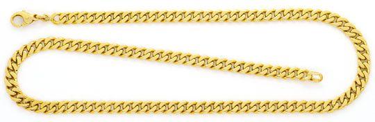 Foto 1, Massive Flachpanzergoldkette Gelbgold 14K/585 Karabiner, K2409
