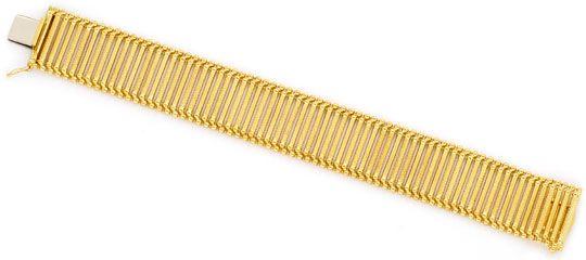 Foto 1, Walzen Rollen Kugeln Fantasie-Armband Gelb-Gold Rötlich, K2411