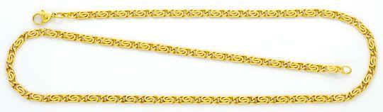 Foto 1, S-Flachpanzer-Goldkette massiv Gelb-Gold 14K achtseitig, K2413