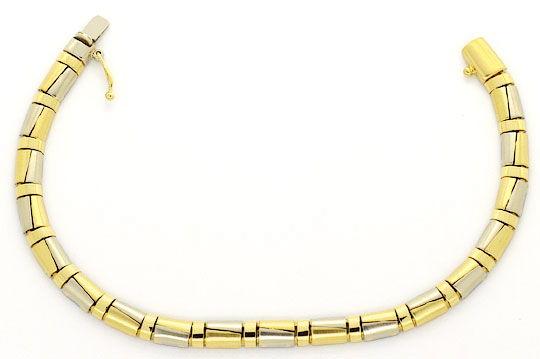 Foto 1, Designer Schmuckset Halskette und Armband Halb-Zylinder, K2414