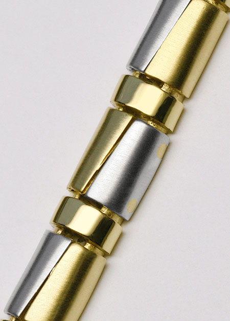 Foto 2, Designer Schmuckset Halskette und Armband Halb-Zylinder, K2414