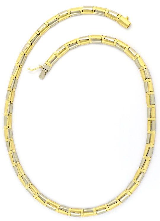 Foto 3, Designer Schmuckset Halskette und Armband Halb-Zylinder, K2414