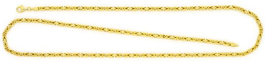 Foto 1, Königskette Goldkette massiv Gelbgold 18K/750 Karabiner, K2415