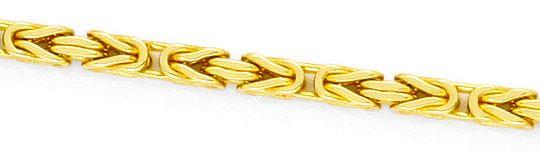 Foto 2, Königskette Goldkette massiv Gelbgold 18K/750 Karabiner, K2415