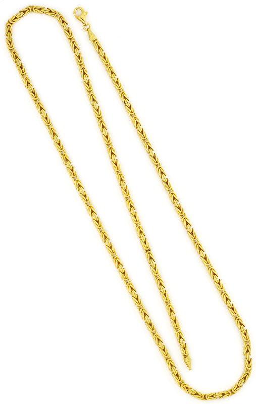 Foto 3, Königskette Goldkette massiv Gelbgold 18K/750 Karabiner, K2415