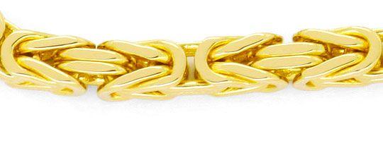 Foto 2, Königsketten-Goldarmband massiv Gelb-Gold 14K Karabiner, K2417
