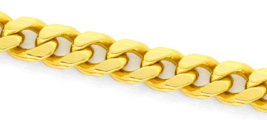 Foto 2, Flachpanzerkette gewölbte Goldkette massiv Gelbgold 14K, K2418