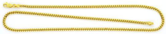 Foto 1, Flach-Panzer-Kette Gewoelbte Goldkette massiv Gelb-Gold, K2420