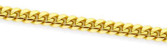 Foto 2, Flach-Panzer-Kette Gewoelbte Goldkette massiv Gelb-Gold, K2420