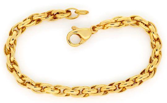 Foto 1, Doppel-Anker Schmuckset Halskette Armband Gelb-Gold 14K, K2425