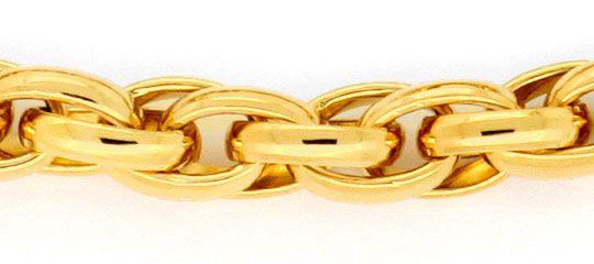 Foto 2, Doppel-Anker Schmuckset Halskette Armband Gelb-Gold 14K, K2425