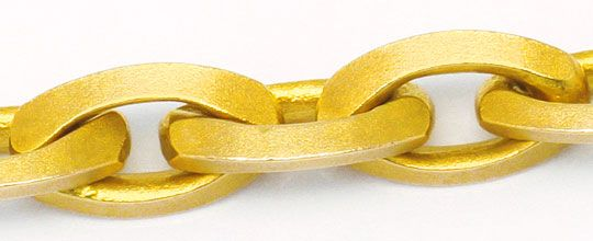 Foto 2, Linsen Design Ankerkette Goldkette massiv Satiniert 14K, K2432