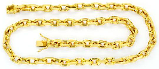 Foto 1, Riesen Monster Ankerkette Goldkette massiv Gelbgold 14K, K2439
