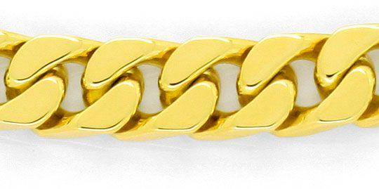Foto 2, Flachpanzergoldarmband massiv Gelbgold Kastenverschluss, K2445