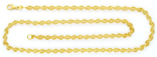 Foto 1, Kordelgoldkette aus Draht Geflecht Gelbgold 18K/750 Neu, K2446