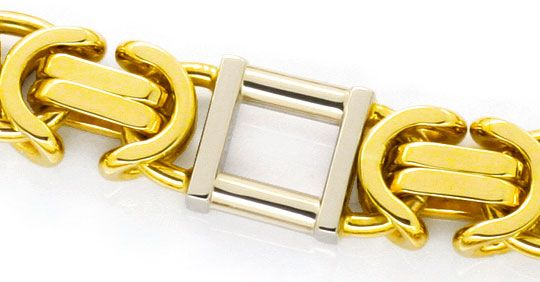 Foto 2, Monster Goldkette Königskette Tempel Gelbgold Weissgold, K2447