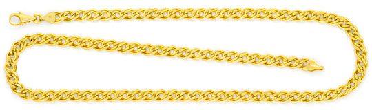 Foto 2, Doppel Flachpanzer Schmuckset Halskette und Armband 585, K2450