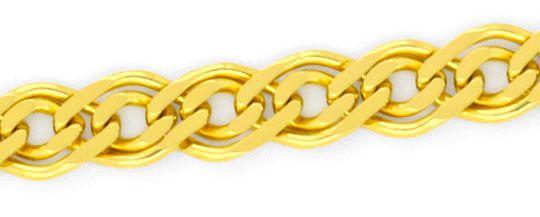 Foto 3, Doppel Flachpanzer Schmuckset Halskette und Armband 585, K2450
