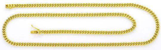 Foto 1, Massive Rundpanzer Goldkette Gelb Gold Kastenverschluss, K2452