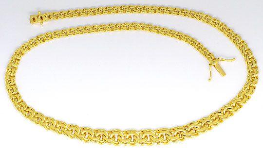 Foto 1, Massive Garibaldi Goldkette im Verlauf in Gelb Gold 14K, K2456