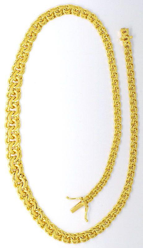 Foto 3, Massive Garibaldi Goldkette im Verlauf in Gelb Gold 14K, K2456