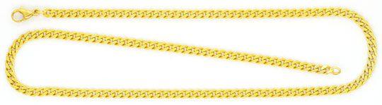 Foto 2, Flachpanzer Schmuckset Halskette Armband massiv 14K/585, K2457