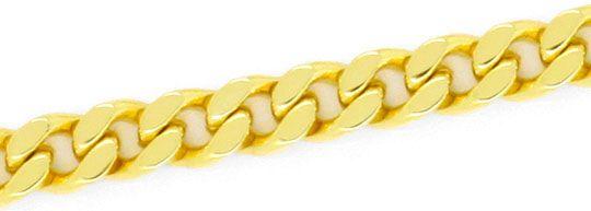 Foto 3, Flachpanzer Schmuckset Halskette Armband massiv 14K/585, K2457