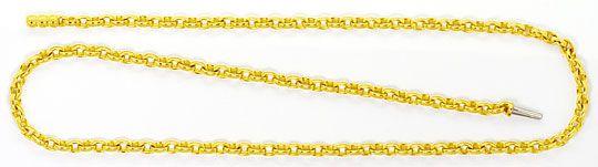 Foto 1, Goldkette Anker Oval Design Verschluss Gelbgold 18K/750, K2462