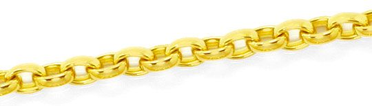 Foto 2, Goldkette Anker Oval Design Verschluss Gelbgold 18K/750, K2462