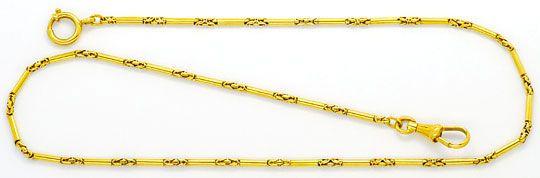 Foto 1, Taschenuhrkette Halskette Gelbgold Zylinder Königskette, K2463