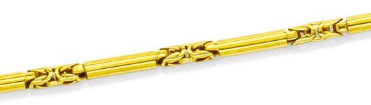 Foto 2, Taschenuhrkette Halskette Gelbgold Zylinder Königskette, K2463