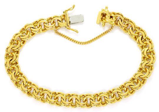 Foto 1, Garibaldi Gold Armband Kastenverschluss massiv Gelbgold, K2467