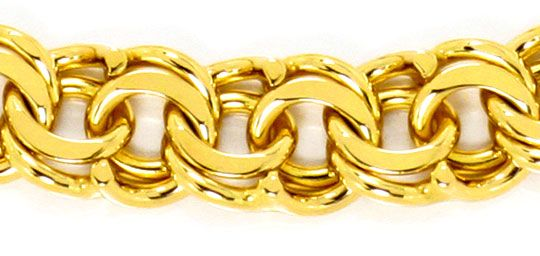 Foto 2, Garibaldi Gold Armband Kastenverschluss massiv Gelbgold, K2467