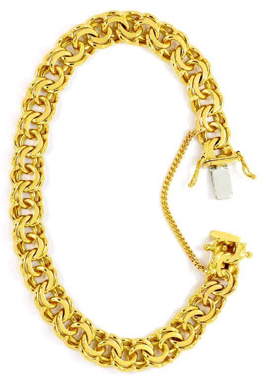 Foto 3, Garibaldi Gold Armband Kastenverschluss massiv Gelbgold, K2467