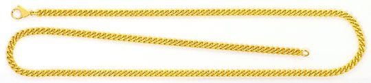 Foto 1, Rundpanzerkette Goldkette Karabiner massiv Gelbgold 18K, K2468