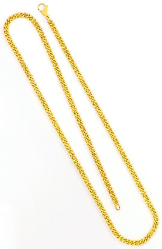 Foto 3, Rundpanzerkette Goldkette Karabiner massiv Gelbgold 18K, K2468