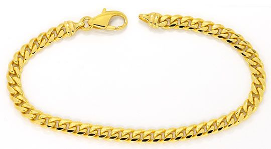 Foto 1, Massives Panzer Gold Armband Gewoelbt Gelb Gold 14K/585, K2470