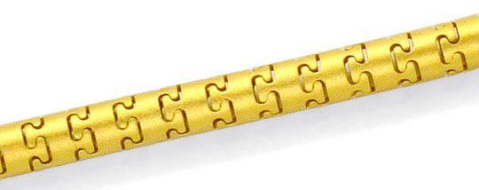 Foto 2, Sensations Schlangen Schlauch Mäander Puzzle Gold Kette, K2474