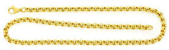 Foto 1, Erbsen Kette Gold Kette Kollier Karabiner Gelb Gold 14K, K2478