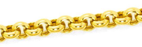 Foto 2, Erbsen Kette Gold Kette Kollier Karabiner Gelb Gold 14K, K2478