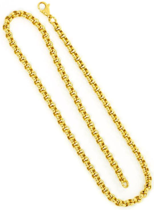 Foto 3, Erbsen Kette Gold Kette Kollier Karabiner Gelb Gold 14K, K2478