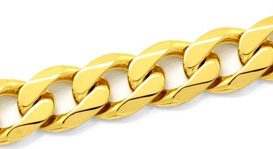 Foto 2, Massive Breite Flachpanzer Goldkette, Gelb Gold 18K/750, K2479