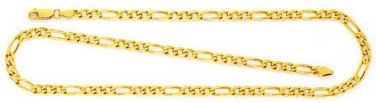Foto 1, Goldkette Flachpanzer Figaro, massives Gelbgold 18K/750, K2482