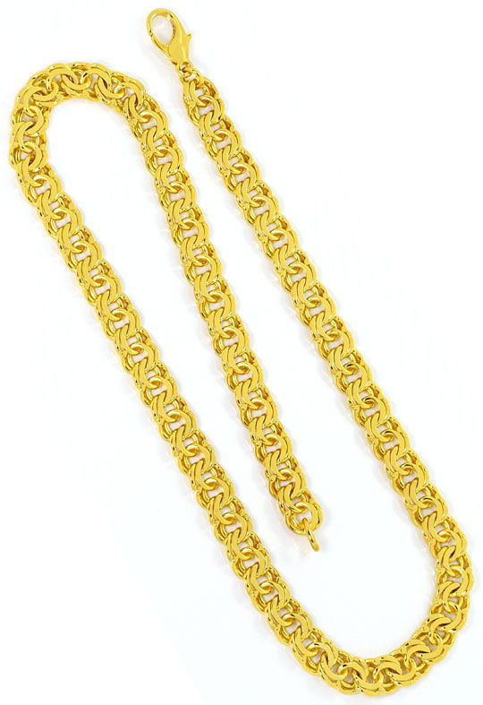 Foto 3, Garibaldi Goldkette Goldkollier massiv Gelbgold 14K/585, K2484