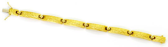 Foto 1, Designer Goldarmband Plattenmuster Kastenverschluss 14K, K2487